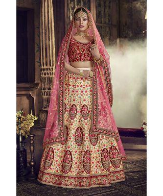 Beige Virasat Wedding Designer Lehenga