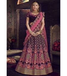 Purple Virasat Wedding Designer Lehenga
