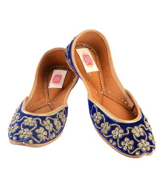 royale blue flats mojaris