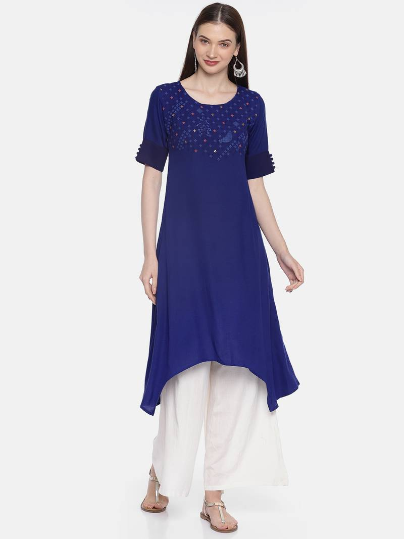 Womens Embroidered Asymmetric Dress Simply Be
