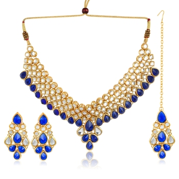Blue necklace-sets