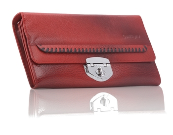 Genuine Stylish Pure Leather Purse For Ladies With Multiple Zipper And Card Slots