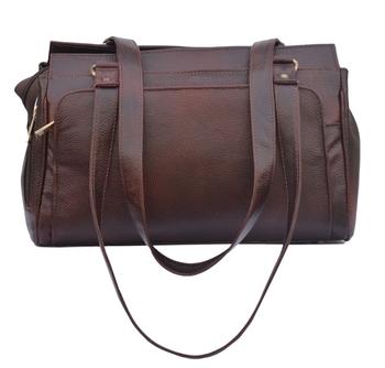 Genunine Leather Women'S Handbag (Deep Brown)