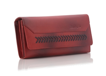 Genuine Leather Clutches For Women With Multiple Zipper And Card Slots