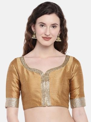 Gold Padded Dupion Silk Blouse