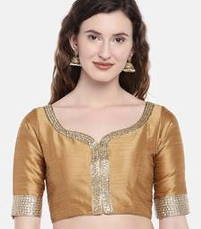 Gold Padded Dupion Silk Blouse
