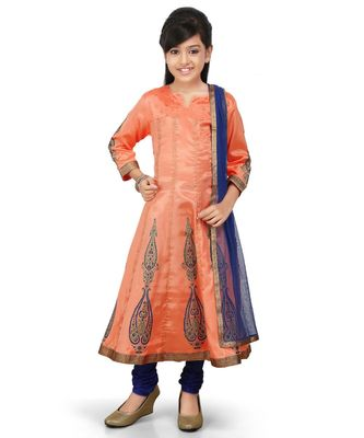 Piche Santoon Printet Kurta Blue Santoon Chodidar Set