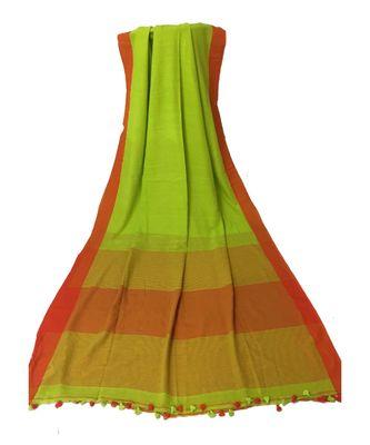 Light Green woven Bengal Cotton Handloom saree with blouse