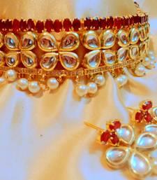 Ruby Kundan Necklace Sets