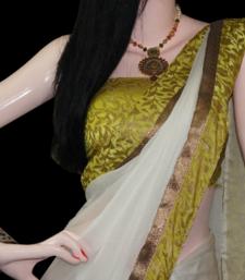 Buy Diva n White chiffon-saree online