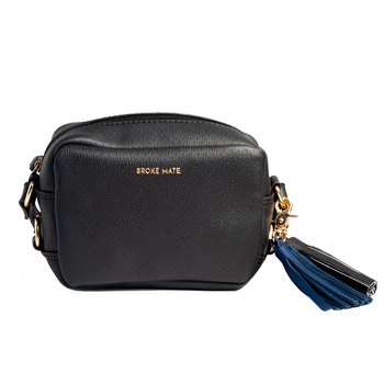 Broke Mate Crossbody Sling Bag - Black