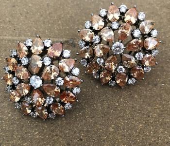 Victorian Polki Studs Earrings