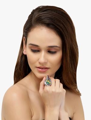 German Silver Fibger Ring