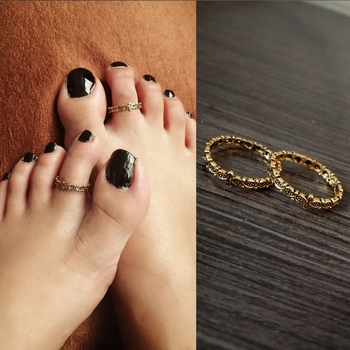 Super Slim Dailywear Gold Toe Rings