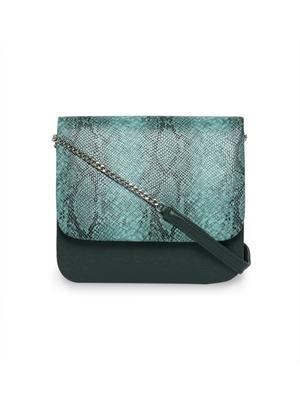TARUSA Animal Print Green color sling Bag