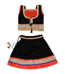 Black Baby Girls Skirt and Top Heavy Lace Border Work Design