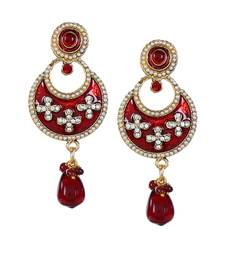 Drop Earring with Enamel Work