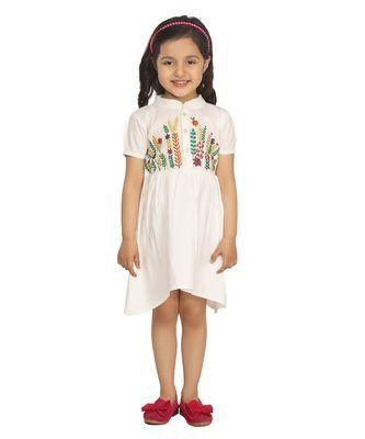 White Embrodiery Dress
