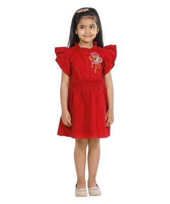 Maroon Balleria embroidery Dress