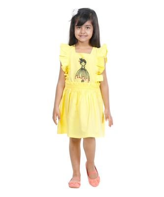 Yellow Doll Embroidery Dress