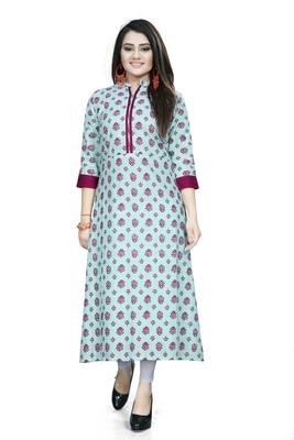 Multicolor printed cotton ethnic kurtis