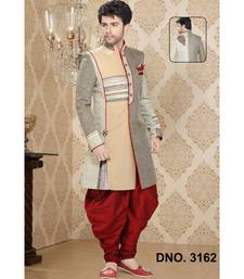 multicolor plain jacquard stitched sherwani
