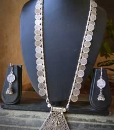 Silver Metallic Necklace-Sets