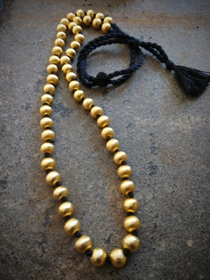 Gold Beaded Jewellery Necklaces