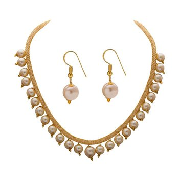 Beige necklace-sets