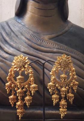 Gold Chandbali