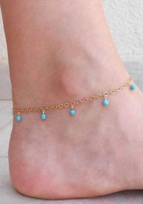 Turquoise anklets