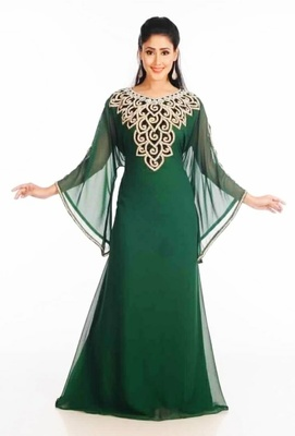 Dubai Kaftan Women Dress Long Gown Farasha Wear Jalabiya Islamic dress Magribi wear