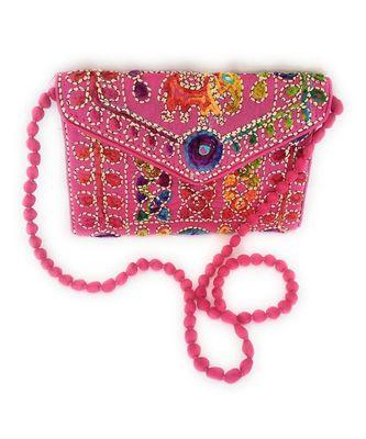 Kepler Rajasthani Embroiedery Elephant Print Women Clutch Bag