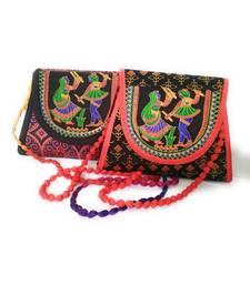 kepler Rajasthani embroidery print bag /clutch bag/handbag for  girls and women