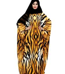 Justkartit Arabic Animal Printed Casual Wear Imported Abaya Burqa For Women With Chiffon Hijab