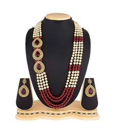 Red Pearl Designer Necklace Sets