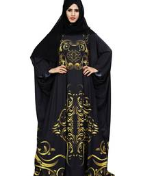 Justkartit Black Color Outdoor Wear Free Size Imported Abaya Burqa For Women With Chiffon Hijab