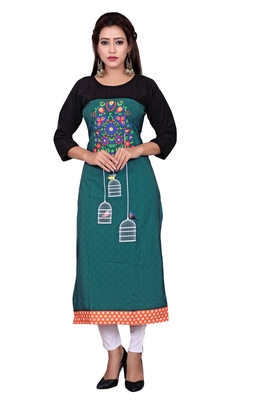 Woman Casual Heavy Crepe Digital Printed Long Kurta
