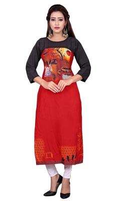 Woman Casual Heavy Crepe Digital Printed Long Kurta