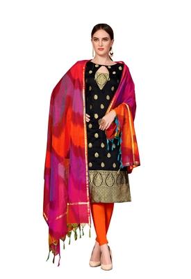 Black Woven Banarasi Silk Salwar