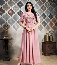 Women's Baby Pink Khadi Slub Amzing Designer Kurtis