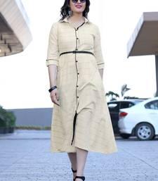 Women's Cream Rayon Amzing Designer Kurtis