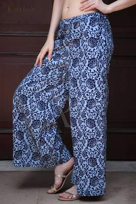 BLUE FLORAL PRINTED PALAZZO
