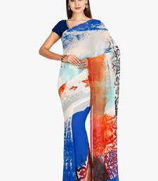 CLASSICATE From The House Of The Chennai Silks Women's Multicolor Georgette Saree With Blouse
