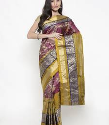 CLASSICATE From The House Of The Chennai Silks Women's Multicolor Traditional Kanjivaram Silk Saree With Blouse