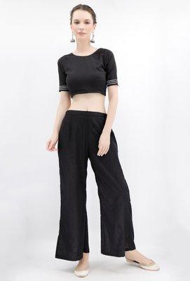 Black Rabari Cotton Backless Padded Blouse