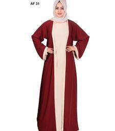 Maroon plain kashibo abaya