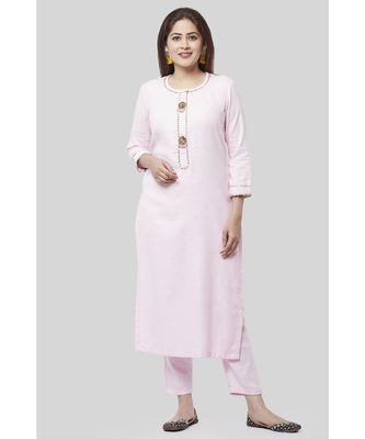 Baby Pink Gotta Straight Kurti with Straight Pants