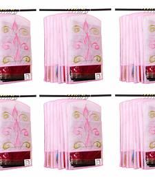 Atorakushon® Fabric Printed Hanging Saree Cover Wardrobe Organiser Pack of 36