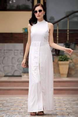 HALTER NECK OVERLAPPING FRONT OPEN KURTA WITH TROUSERS
